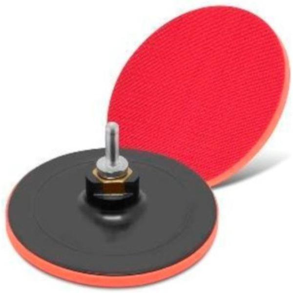 Disco De Borracha Com Velcro 115mm Com Adaptador Para Furadeira