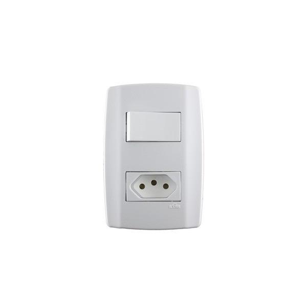 Interruptor 4x2 1 Seção + Tomada 10a Ref.80200