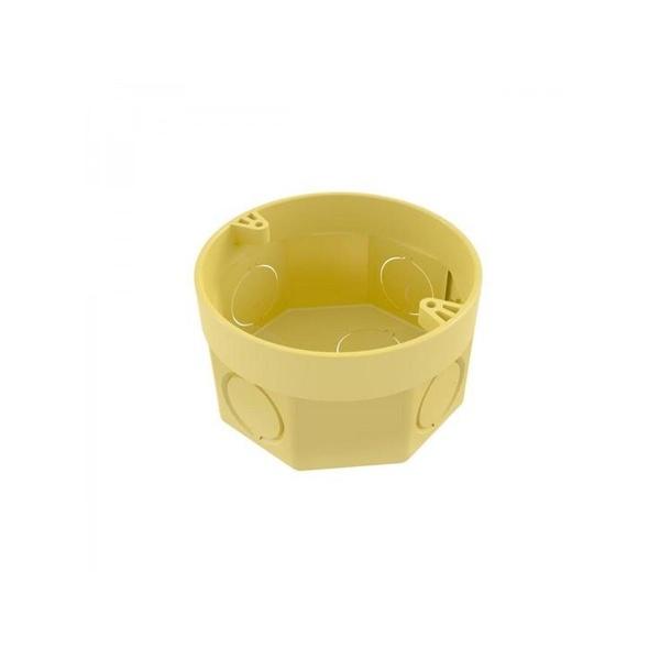 Caixa De Luz 3x3 Redonda Amarela Tigre