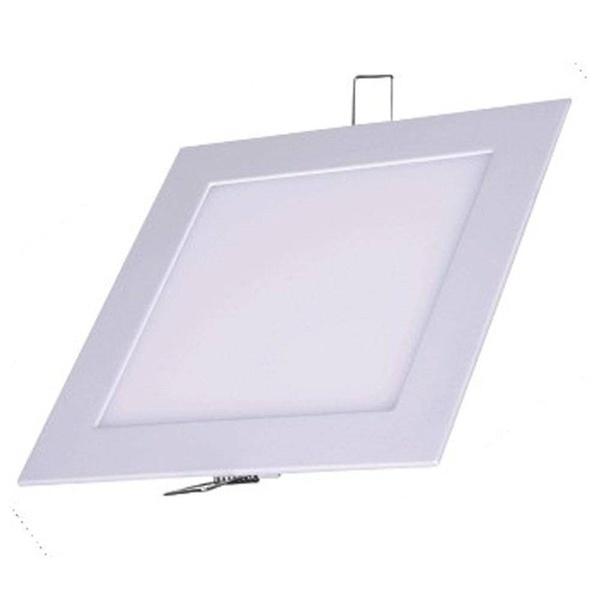 Luminária Painel Plafon Embutir Quadrada 12w Branco Frio