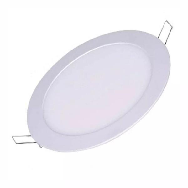 Luminária Painel Plafon Embutir Redonda 12w Branco Frio