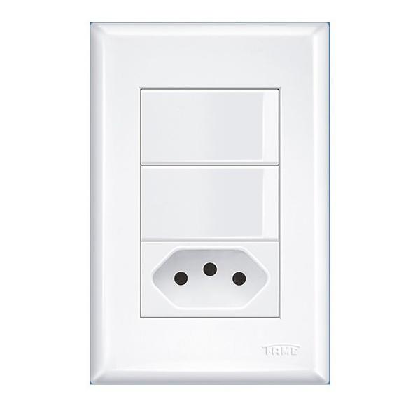Interruptor Com 2 Seções e Tomada 2p+t 10a Evidence