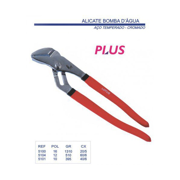 "Alicate Bomba D'agua Crv 12"" 30cm Lotus"