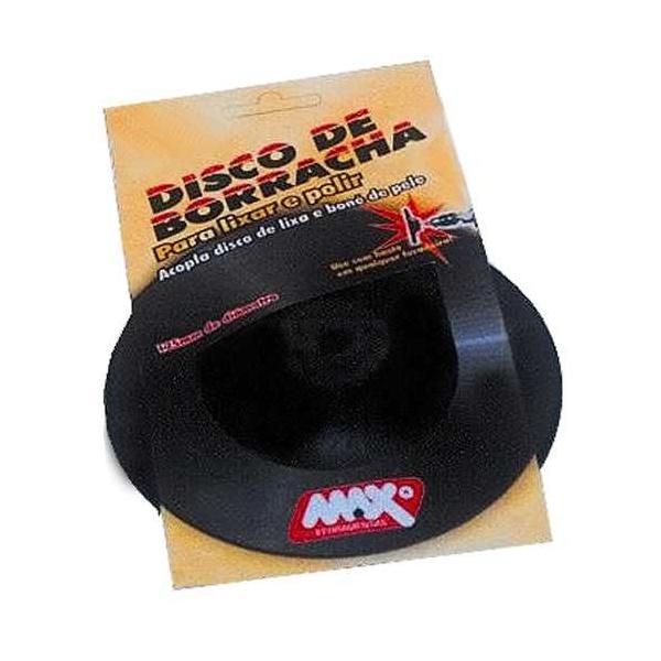 """Disco De Borracha 4 1/2 Flexível Com Furo de 1/4"""""""