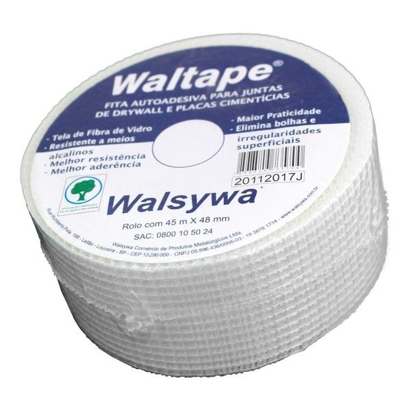 Fita Autoadesiva Para Juntas Drywall 48mm x 45 Metros Walsywa