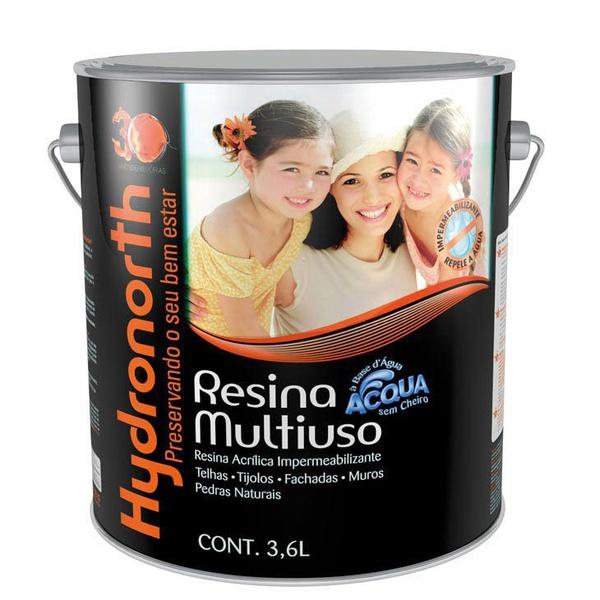 Resina Multiuso Acqua Color Vermelho Óxido 3,6L Hydronorth