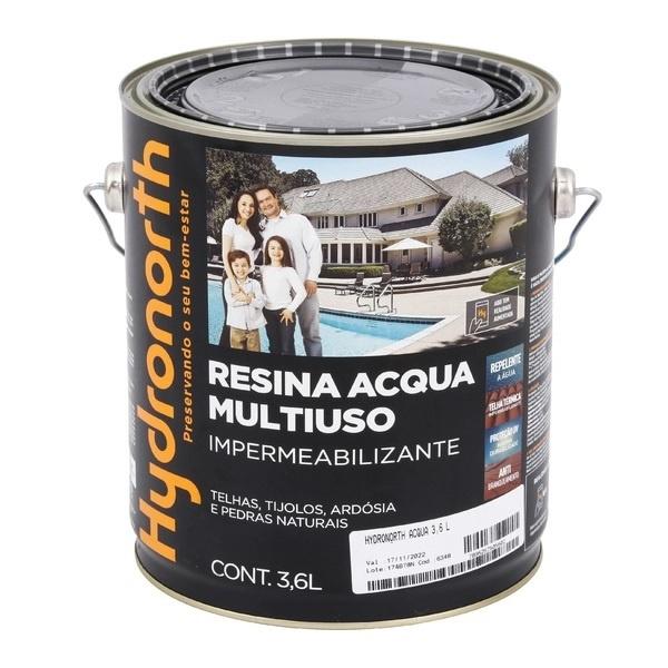 Resina Multiuso Acqua Color Cerâmica Telha 3,6L Hydronorth