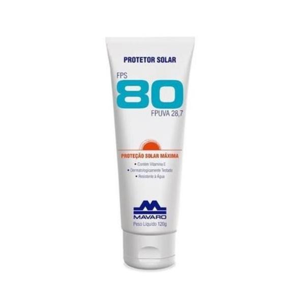 Protetor Solar FPS 80 Mavaro