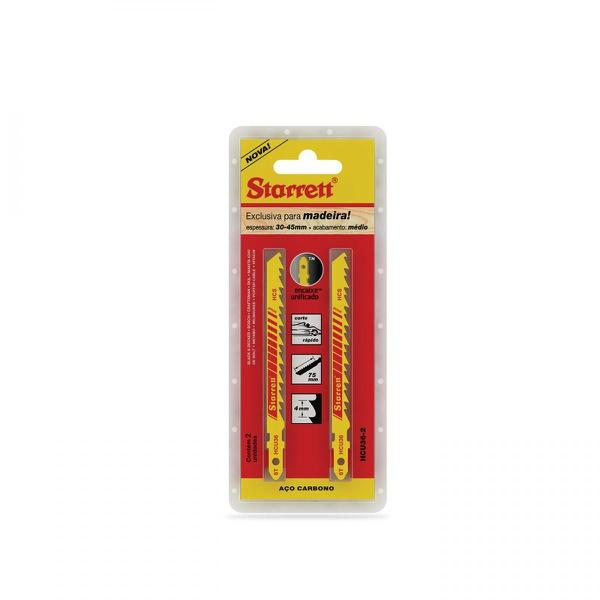 Lamina de Serra Tico Tico Carbono 100MM 6 Dentes (Cartela com 2 Unidades) Starrett HCU36-2