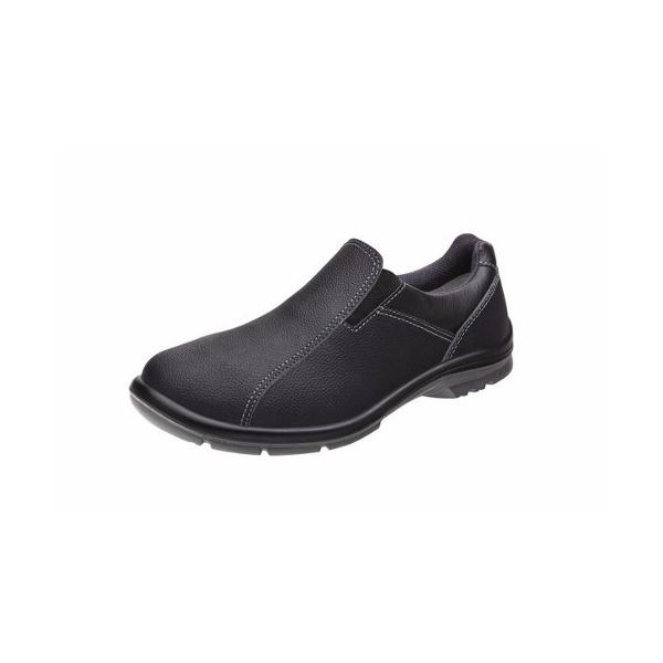 Sapato em Couro Preto Ocupacional Elástico Unissex 50F61 Marluvas