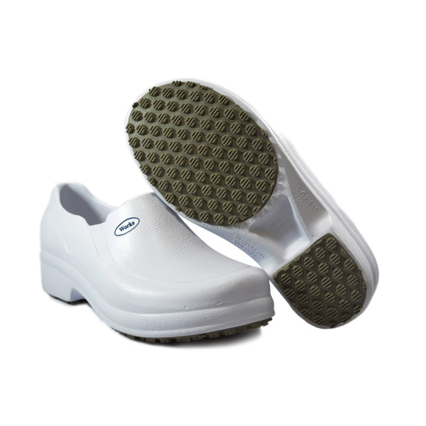 Sapato Soft Work Fechado Branco 42 BB65 CA31898 76317-42
