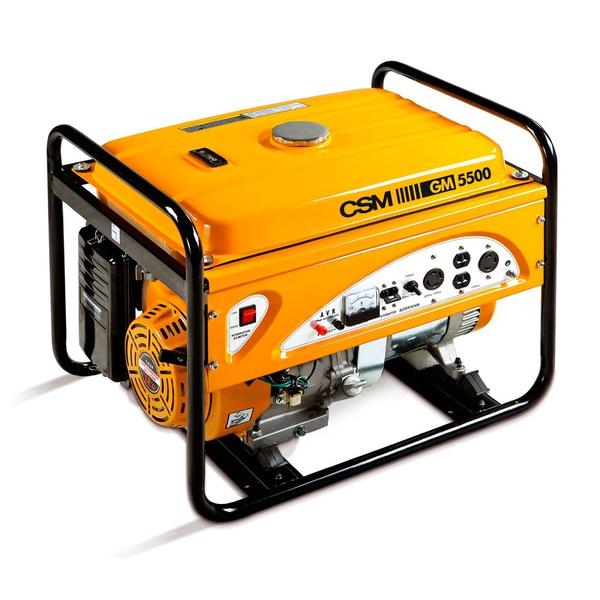 Gerador de Energia à Gasolina Portátil 4T Partida Manual 6,0 KVA 110/220V CSM - GM5500E