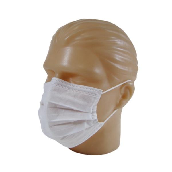 Mascara Descartavel Cirurgica Tripla com Elastico Caixa 50 Unds