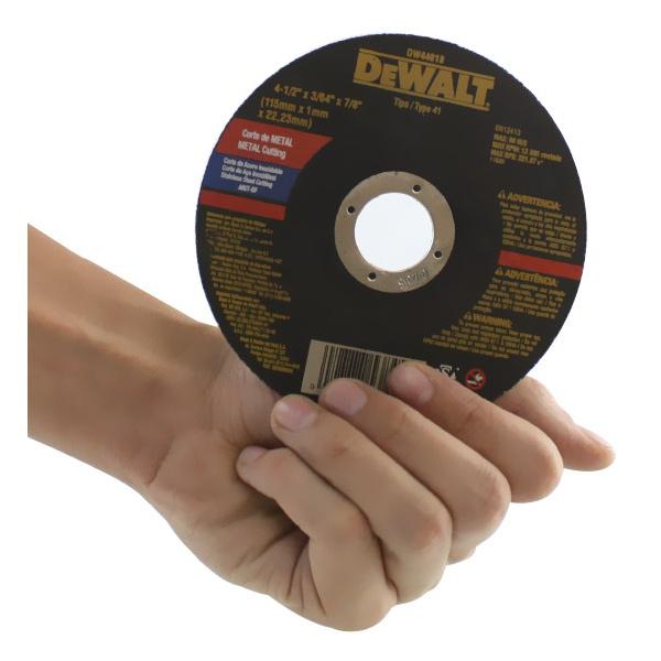 "Disco de corte Fino para inox 4.1/2"" x 3/54'' x 7/8"" - DW-44618 - Dewalt"