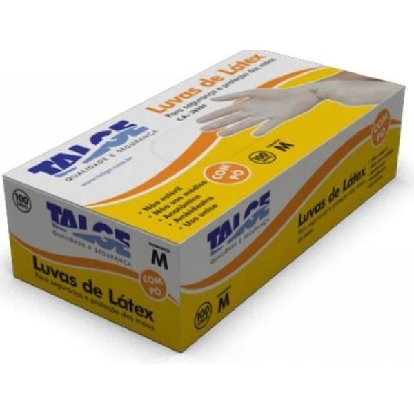 Luva de Latex Procedimento COM PO Caixa Com 100 Unidades Talge