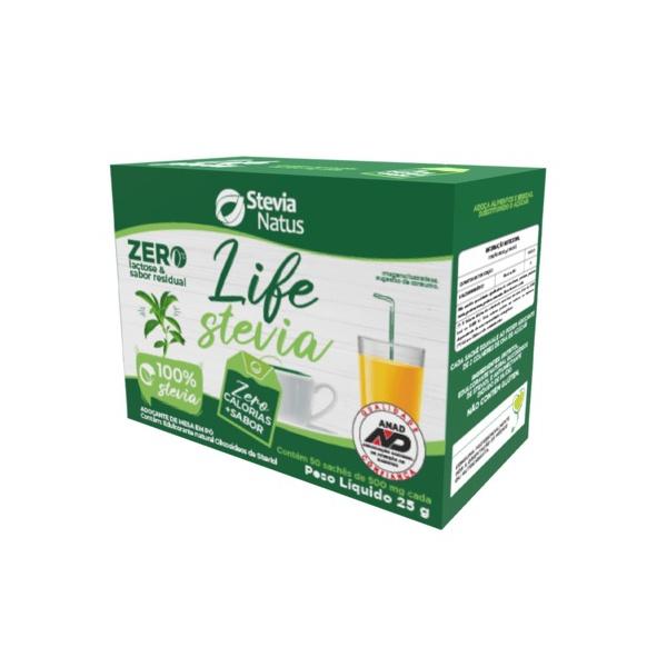 Adoçante Life Stevia Sachê 50x500mg