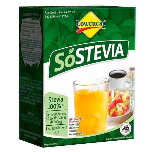 Adoçante Só Stevia 50saches x 0,6g