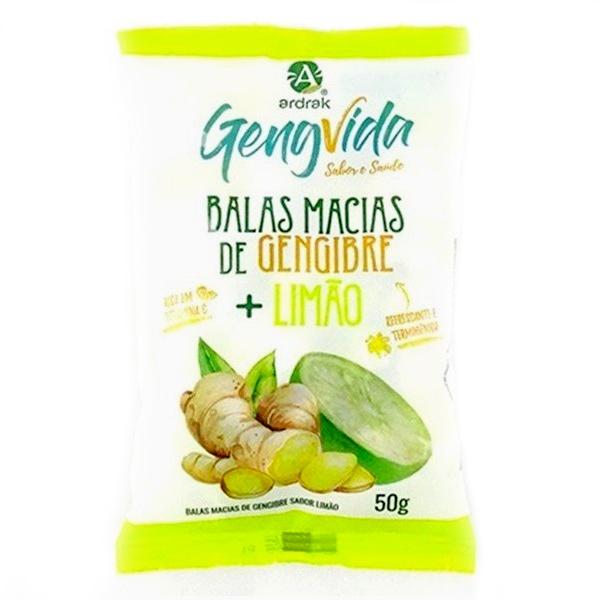 Bala Macia de Gengibre Limão 50g