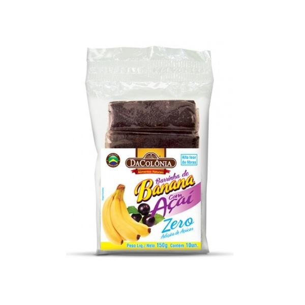 Barrinha de Banana com Açaí Zero 10x15g