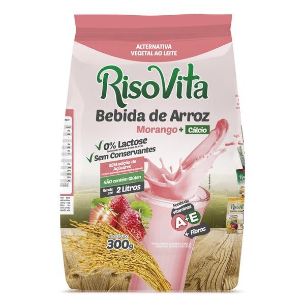 Bebida de Arroz em Pó Morango e Cálcio 300g