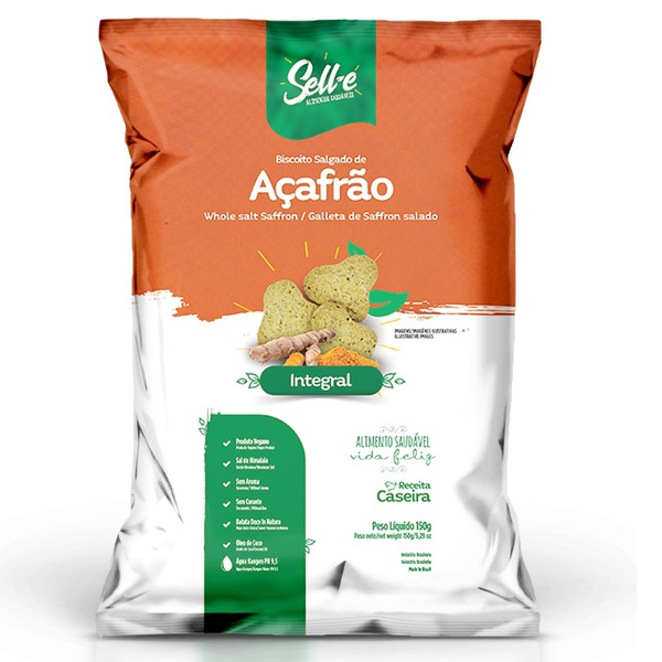 Biscoito de Açafrão Veg Integral 150g