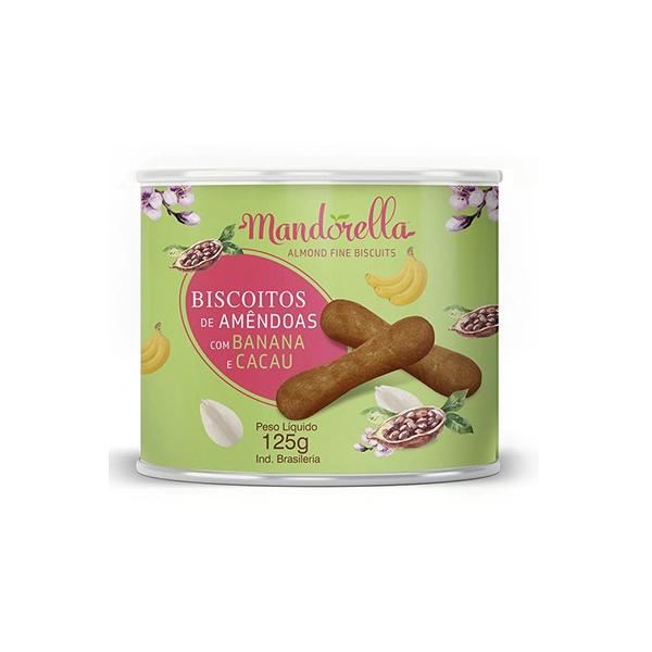 Biscoito de Amêndoas com Banana e Cacau Mandorella 125g