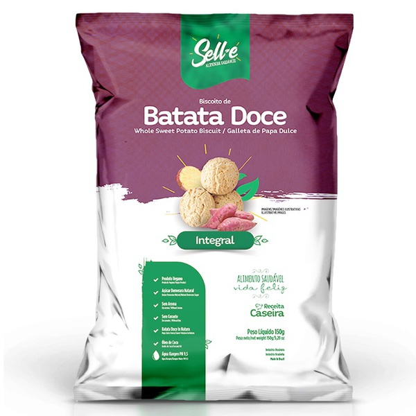 Biscoito de Batata Doce Integral Vegano 150g