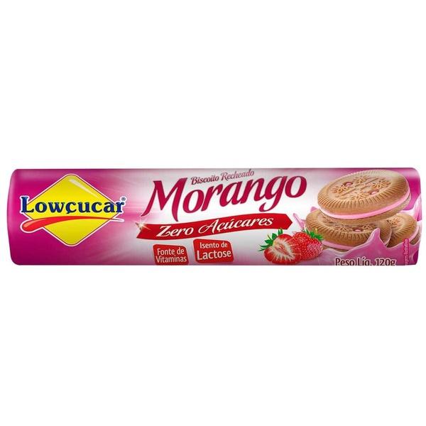 Biscoito Recheado Morango Zero Açúcares Sem Lactose 120g