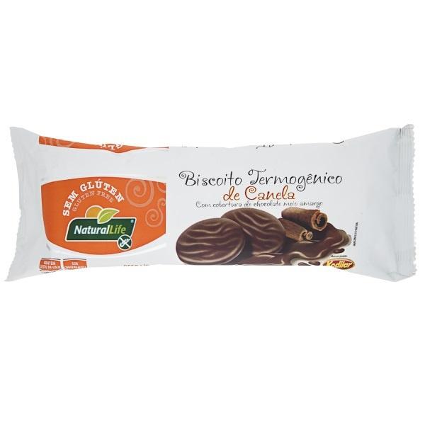 Biscoito Termogênico de Canela com Cobertura de Chocolate Meio Amargo 140g