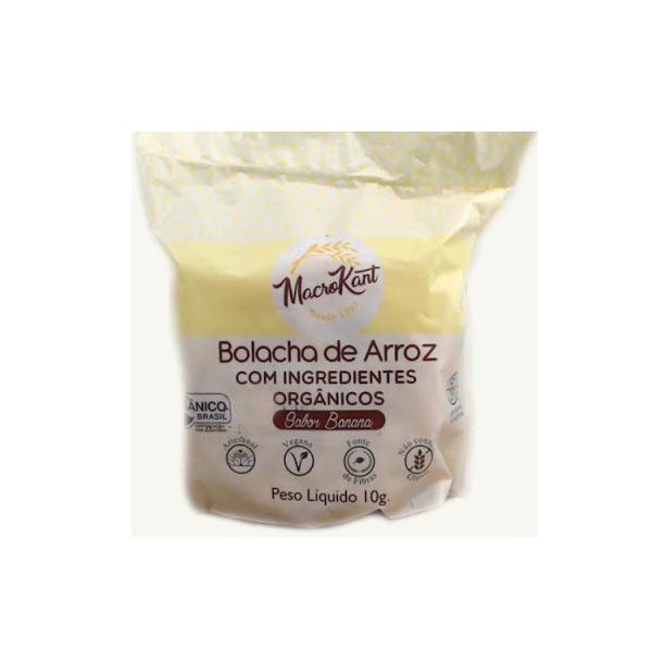 Bolacha de Arroz Org. Veg Sabor Banana 10g