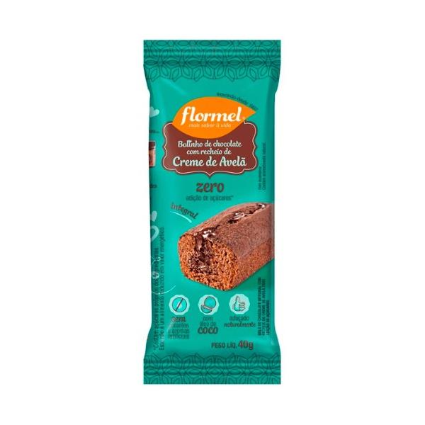 Bolinho Chocolate com Creme de Avelã Integral Zero Display 14x40g