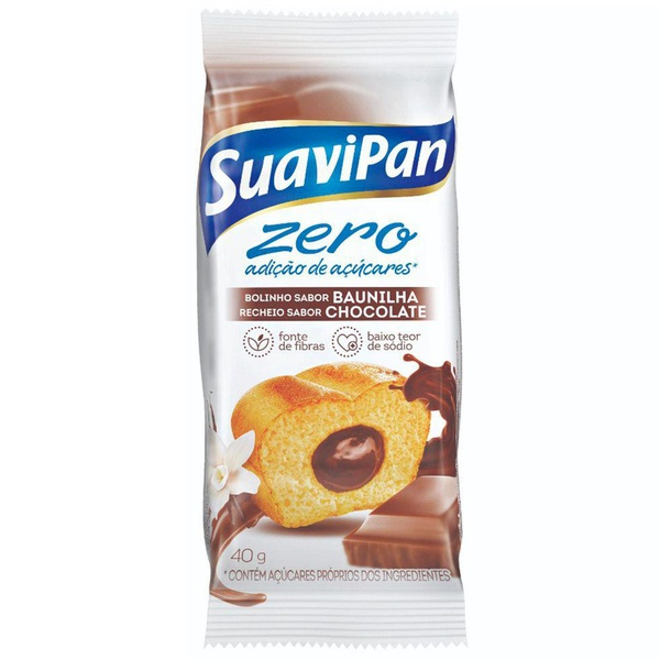 Bolinho Zero De Baunilha Com Recheio De Chocolate Display 12x40g