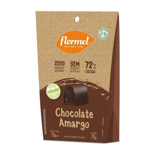 Bombom Chocolate Amargo 72% Cacau Vegano 75g