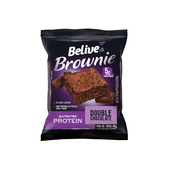 Brownie Believe Double Chocolate Protein Display 10x40g
