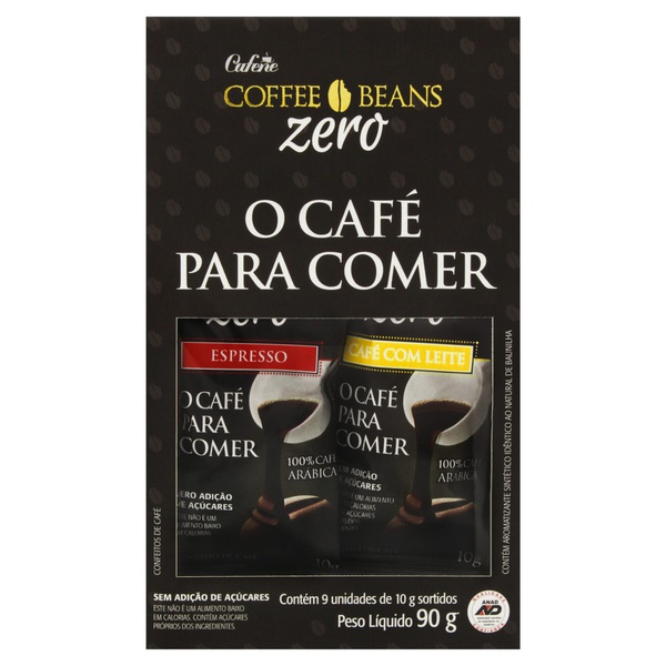 Coffee Beans Zero Sortido Display 9x10g
