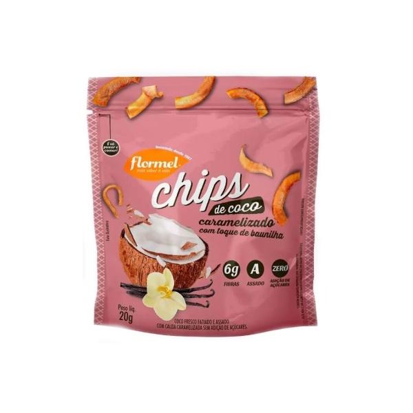 Chips de Coco Caramelizado Zero Display 8x20g