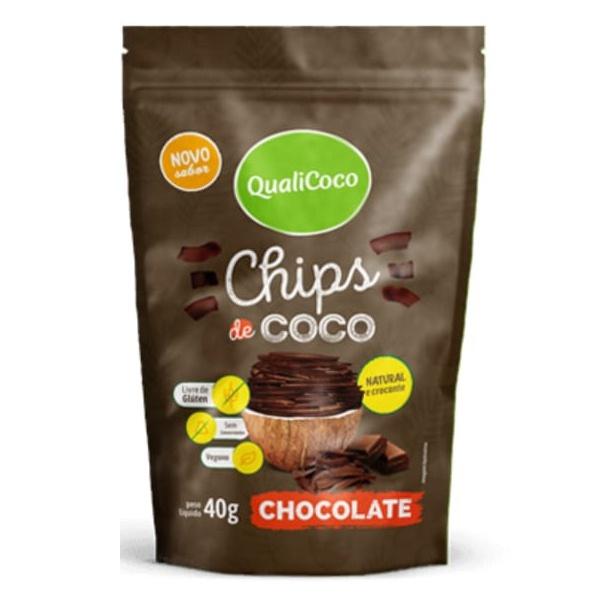 Chips de Coco Sabor Chocolate 40g