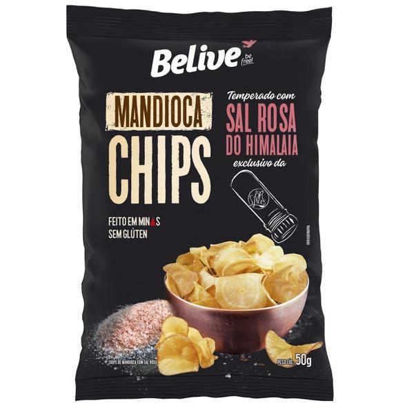 Chips de Mandioca Sabor Sal Rosa do Himalaia 50g
