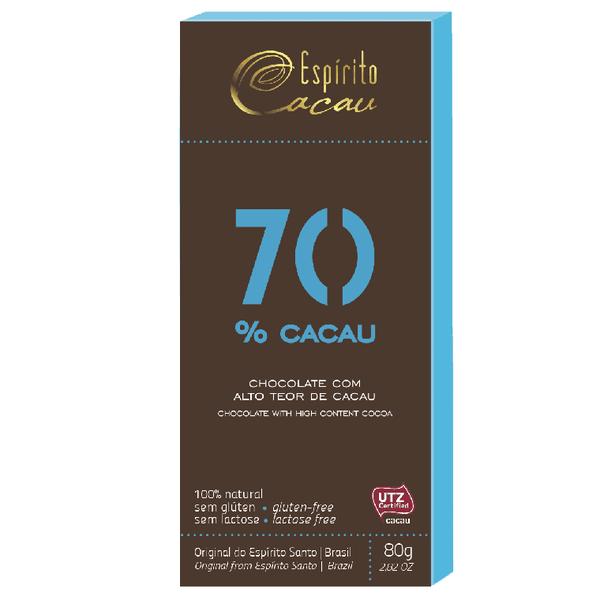 Chocolate 70% Cacau 80g