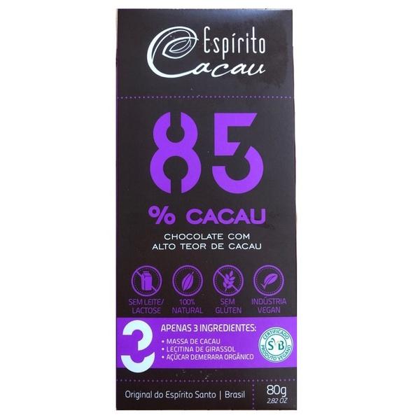 Chocolate 85% Cacau 80g