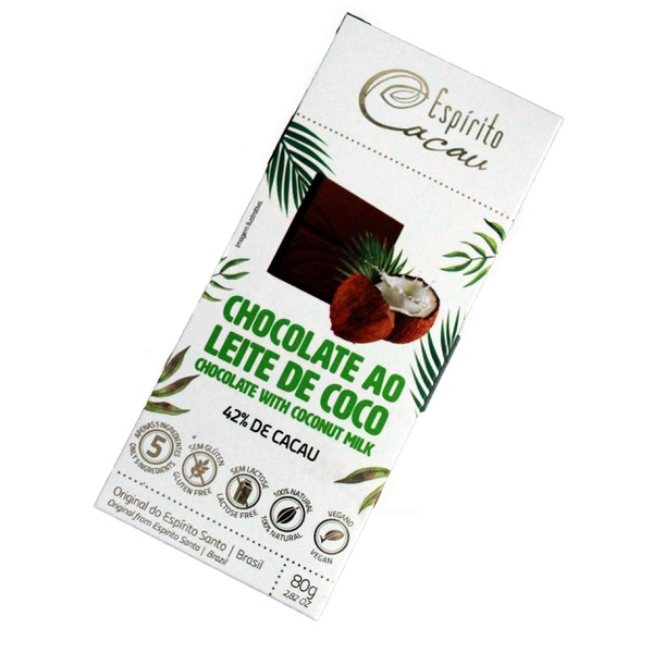 Chocolate ao Leite de Coco 42% Cacau Veg 80g