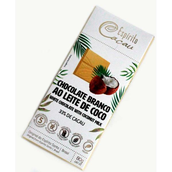 Chocolate Branco ao Leite de Coco 33% Veg 80g