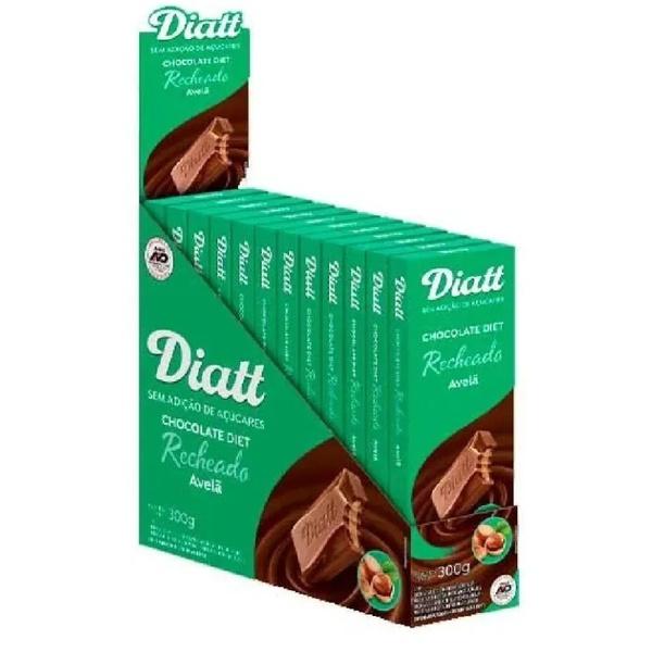 Chocolate Diet Ao Leite Recheado Com Avelã Display 12x25g