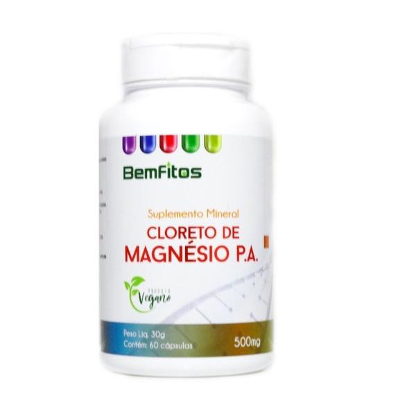 Cloreto de Magnésio P.A. Veg 60 cápsulas x 500mg