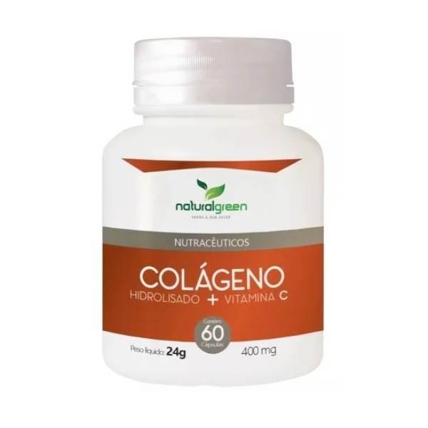Colágeno Hidrolisado com Vitamina C 60 cápsulasx400mg