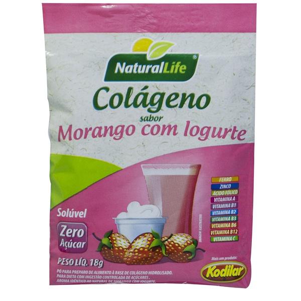 Colágeno Sabor Morango com Iogurte Display 12x18g