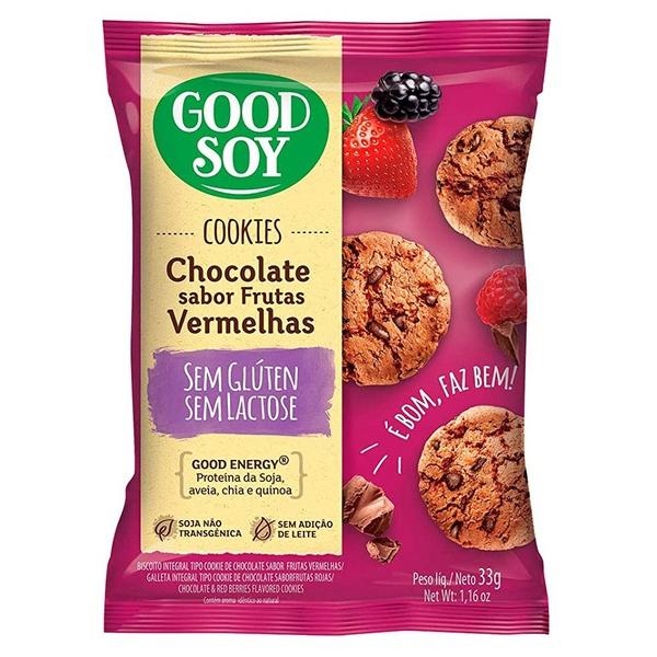 Cookies Chocolate Sabor Frutas Vermelhas Display 10 x 33g