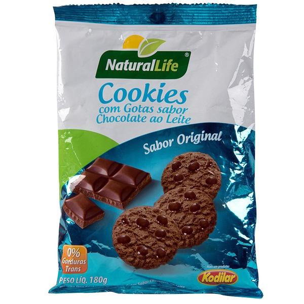 Cookies com Gotas Sabor Chocolate ao Leite 180g
