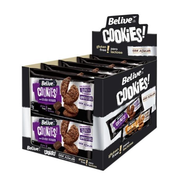 Cookies Double Chocolate Zero Açúcar Display 10x67g
