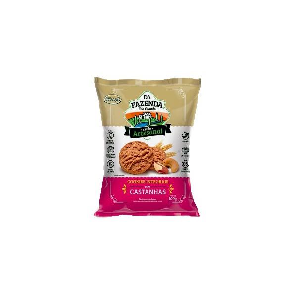 Cookies Integrais Leve Com Castanhas 100g